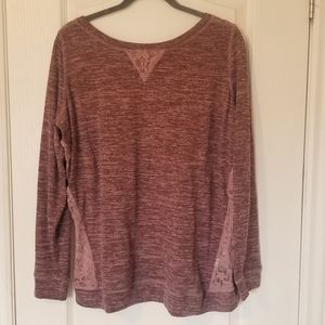Knit Sweater with Lacey Back Size 2X
